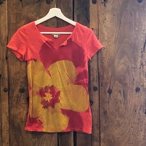 Lucky Brand Flower Tee Size Small